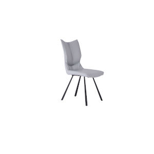 Silvia Light Gray and Matte Black Dining Chair