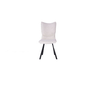 Silvia White and Gray Dining Chair