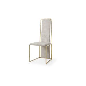 Sumo Beige and Polished Gold Dining Chair