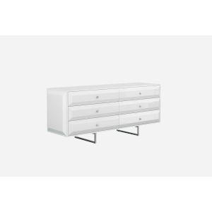 Abrazo Gloss White Dresser