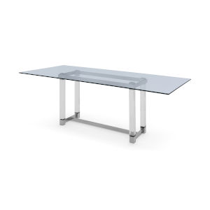 Brianna Clear Rectangular Dining Table