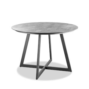 Rain Gray Outdoor Round Dining Table