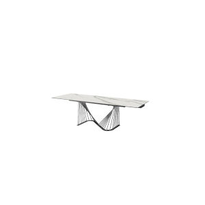 Roma White and Black Extendable Dining Table
