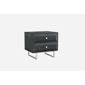 Abrazo High Gloss Gray Nightstand