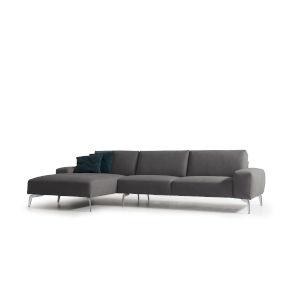 Negramaro Dark Gray Sectional Sofa