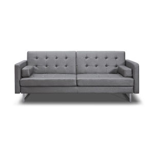Giovanni Gray Faux Leather Sofa Bed