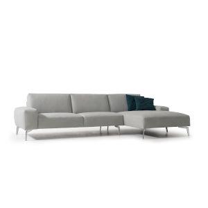 Negramaro Light Gray Sectional Sofa