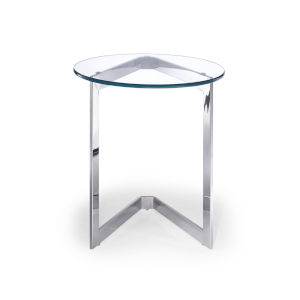 Jasmine Clear and Stainless Steel Side Table