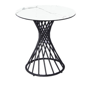 Oscar White and Black Side Table