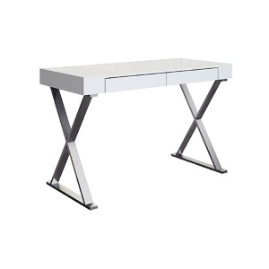 Elm High Gloss White Large Desk