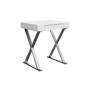 Elm High Gloss White Small Desk