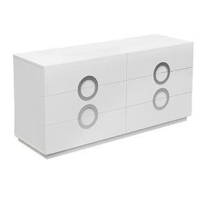Eddy High Gloss White Double Dresser