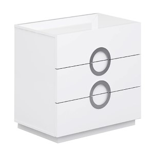Eddy High Gloss White Single Dresser