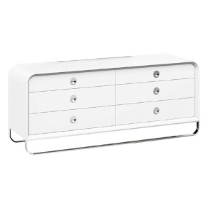 Liquido High Gloss White Double Dresser