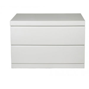 Anna High Gloss White Large Night Stand