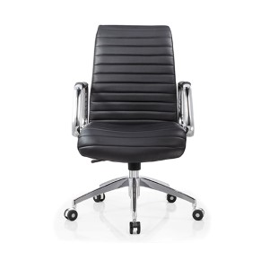 Oxford Black Leatherette Low Back Office Chair