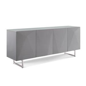 Samantha Buffet, High Gloss Grey with Design on Doors