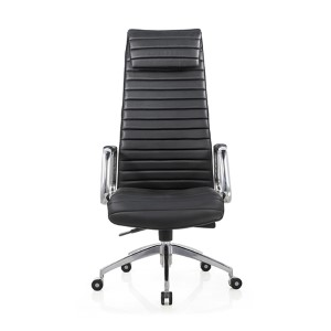 Oxford Black Leatherette High Back Office Chair