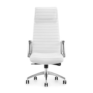 Oxford White Leatherette High Back Office Chair