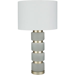 Aminah Stone Painted Glass One-Light Table Lamp