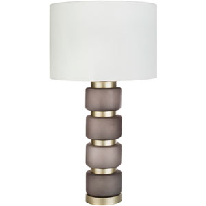 Aminah Burnt Umber Painted Glass Table Lamp
