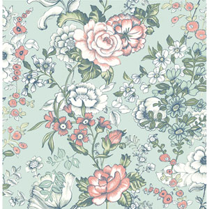 York Wallcoverings Antonina Vella Blue Kashmir