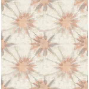 Iris Coral Shibori Wallpaper