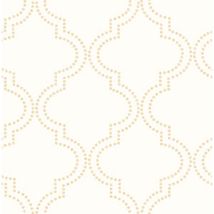 Tetra Cream Quatrefoil Wallpaper