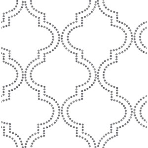 Tetra Black Quatrefoil Wallpaper