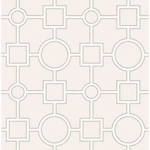 Matrix Light Grey Geometric Wallpaper