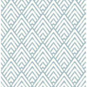 Vertex Blue Diamond Geometric Wallpaper