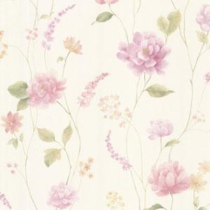 Hanne Purple Floral Pattern Wallpaper