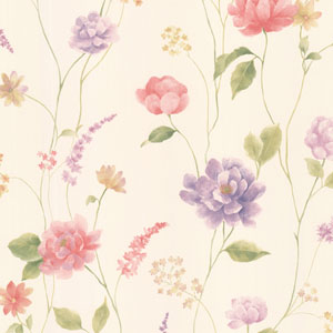 Hanne Pink Floral Pattern Wallpaper