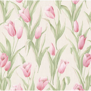 Denning Pink Satin Tulip Texture Wallpaper