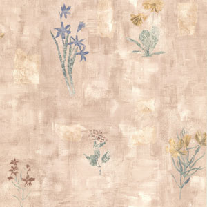 Twain Mauve Terracotta Wildflower Wallpaper