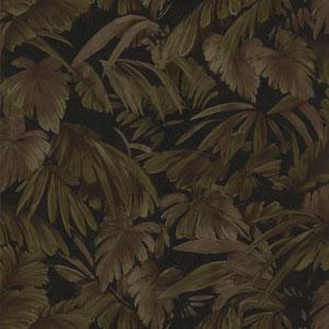 Raven Black Palm Tree Leaf Texture Wallpaper