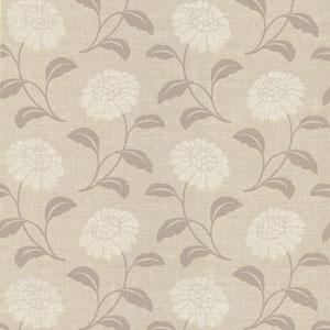 Peery Grey Modern Floral Silhouette Wallpaper