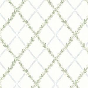 Bramwell Blue Harlequin Trellis Wallpaper