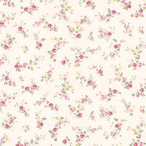 Turtledove Pink Small Rose Toss Wallpaper
