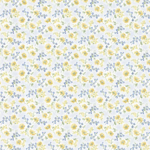 Leif Blue Dense Floral Toss Wallpaper