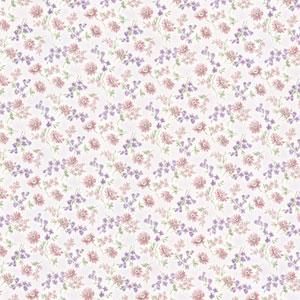 Leif Purple Dense Floral Toss Wallpaper