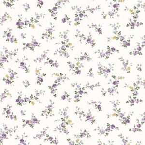 Turtledove Purple Small Rose Toss Wallpaper