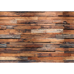 Brown Reclaimed Wood Wall Mural