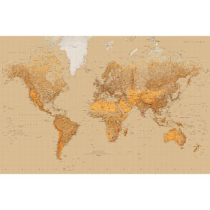Multicolor The World Wall Mural