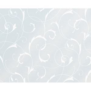 Scroll Flower Static Window Film