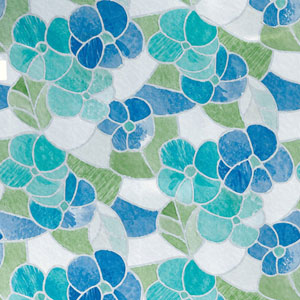 Blue and Green Stained Glass Window Film, Set of Two