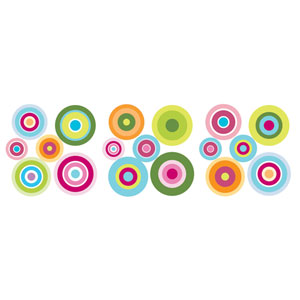 Candy Dot Wall Stickers, Set of 36
