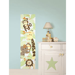 Jungle Friends Growth Chart Decal