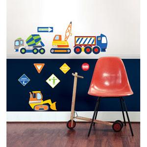 Construction Zone Wall Art Kit