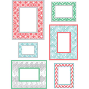 Geo Multicolor Frame Small Wall Art Kit